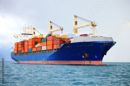 Fotografie, Tablou cargo container ship
