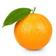 Leinwandbild Motiv Ripe orange isolated on white background