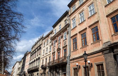 Foto op Canvas Artistiek mon. street in Lviv city