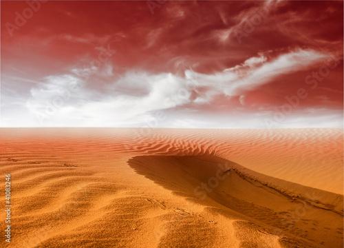 Deurstickers Oranje eclat desert landscape