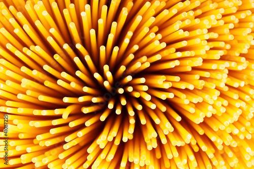 Deurstickers Macrofotografie Spaghetti