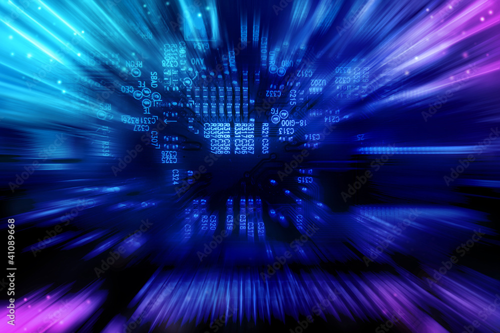 Fototapeta Electronic background texture