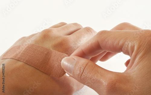 Two hands with bandage Tapéta, Fotótapéta
