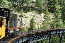 Historic Steam Train Coming Down The Tracks
