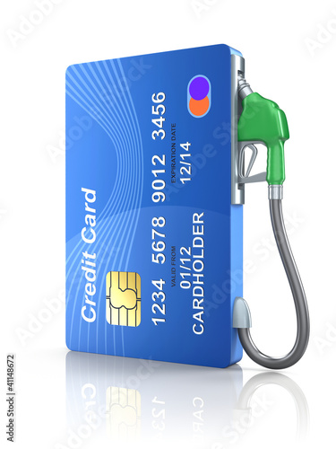 Fotografie, Obraz  Credit card with gas nozzle