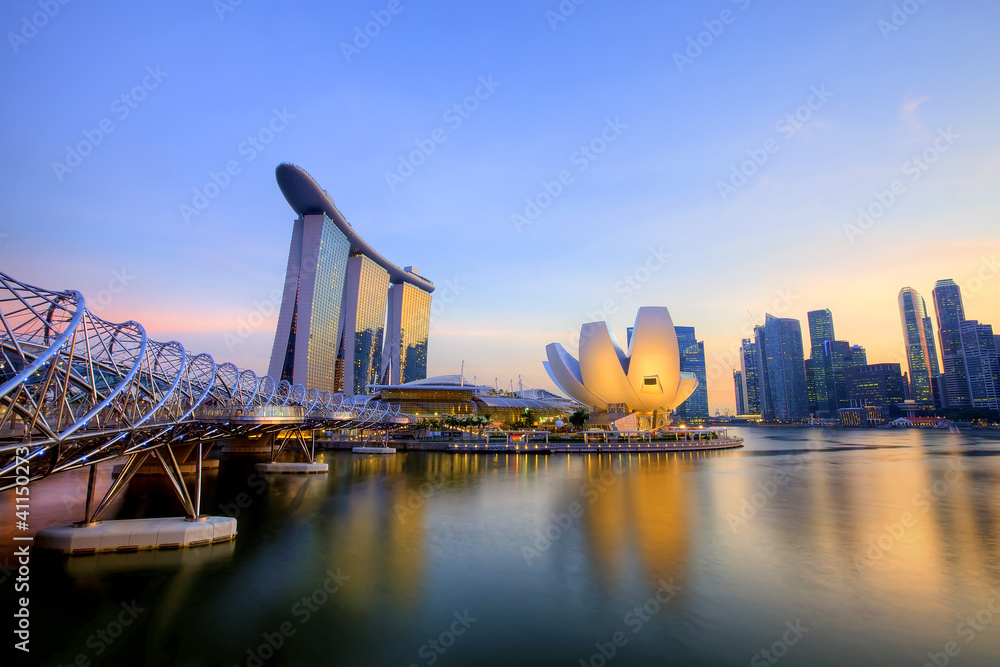 Singapore skyline Foto, Poster, Wandbilder bei EuroPosters