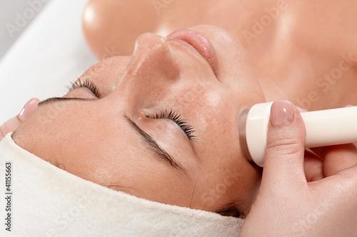 Valokuva Closeup portrait of beauty treatment