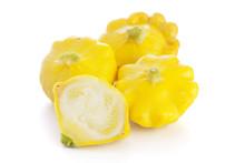 Yellow Pattypan Squashes Isola...
