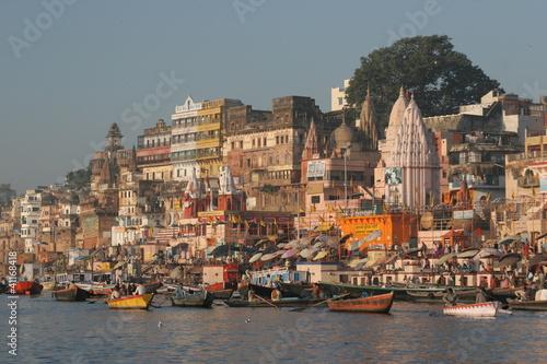 Foto op Canvas India Varanasi - Blick vom Fluss