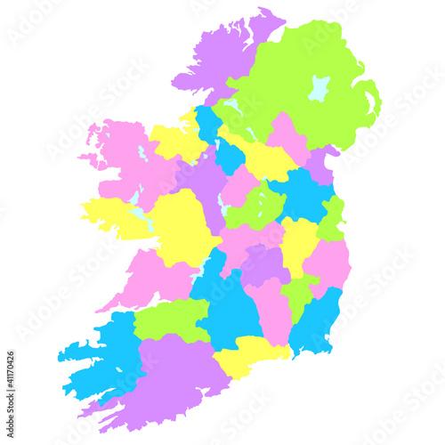 アイルランド地図 Wallpaper Mural