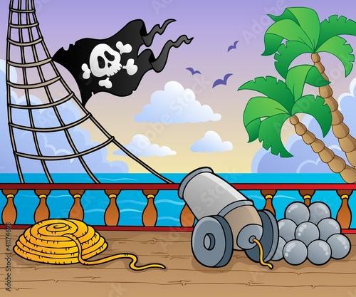 Photo Stands Pirates Pirate ship deck theme 1