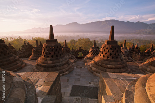 Staande foto Indonesië Borobudur Temple Indonesia