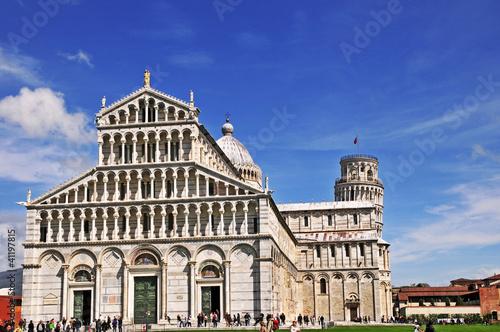 Fotografie, Obraz Pisa, piazza dei miracoli e torre pendente