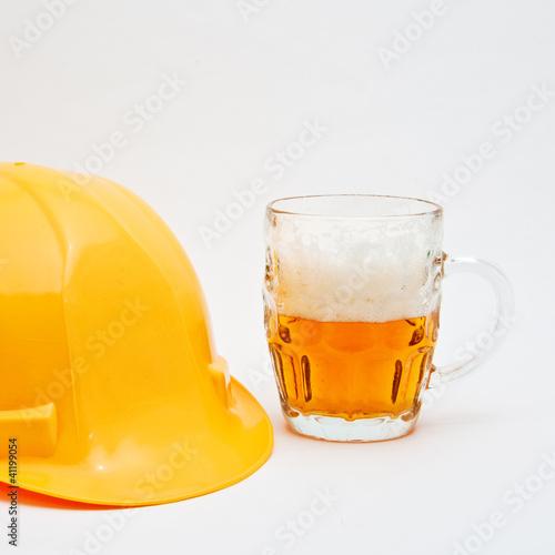 Plakaty dydaktyczne pracownik-jest-na-hamulcu-piwa