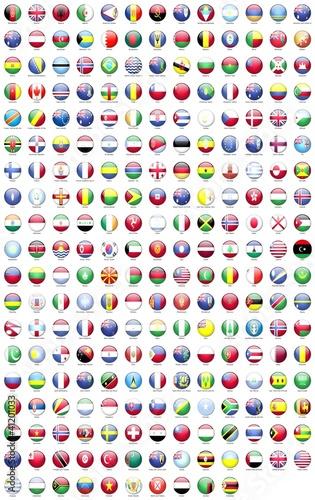Poster de jardin Amérique du Sud ülke bayrakları yuvarlak 3