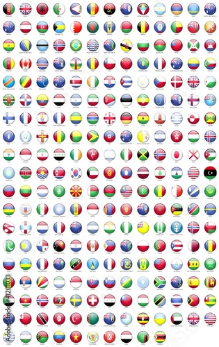 Papiers peints Amérique du Sud ülke bayrakları yuvarlak 3