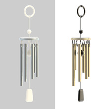 Feng Shui Wind Chime Isolated