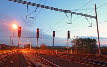 Traffic Light In Railroad