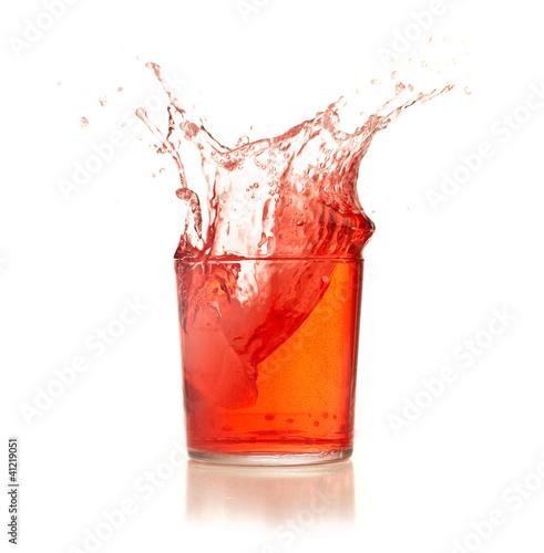 cocktail splash Fototapete