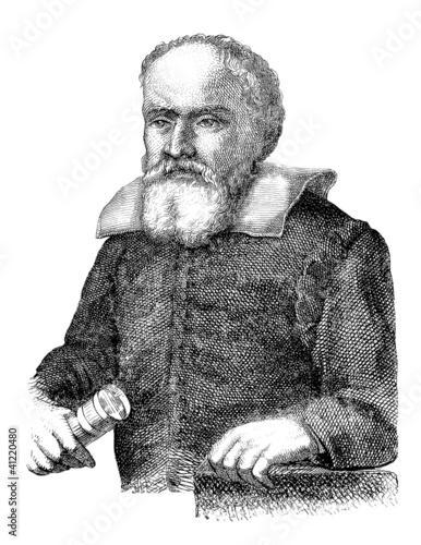Fotografie, Tablou Galileo Galilei - 17th century