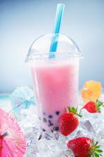 Fruity Strawberry Bubble Tea