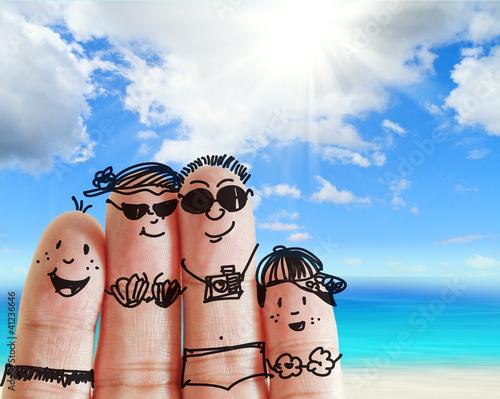 Plakat na zamówienie finger family
