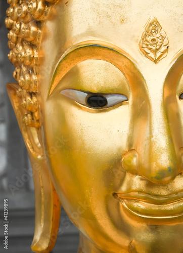 half of buddha 's face Fototapeta