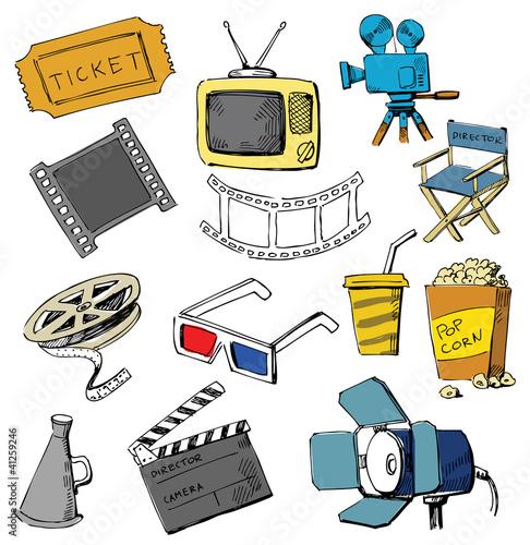 Photo  Movie icon set