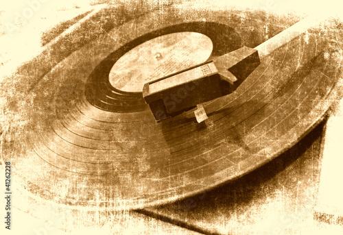 muzyczny-tlo-winylowy-gracz-grunge-ilustracja