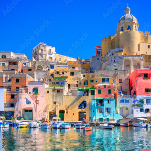 Photo sur Toile Naples Procida, Napoli - Italia