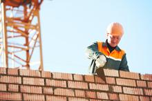 Construction Mason Worker Bric...
