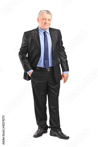 Fotografie, Obraz  Full length portrait of a mature businessman posing