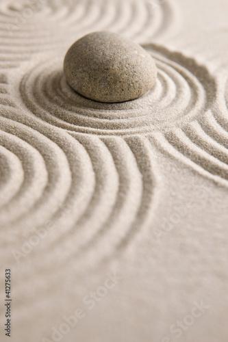 Acrylic Prints Stones in Sand Zen stone