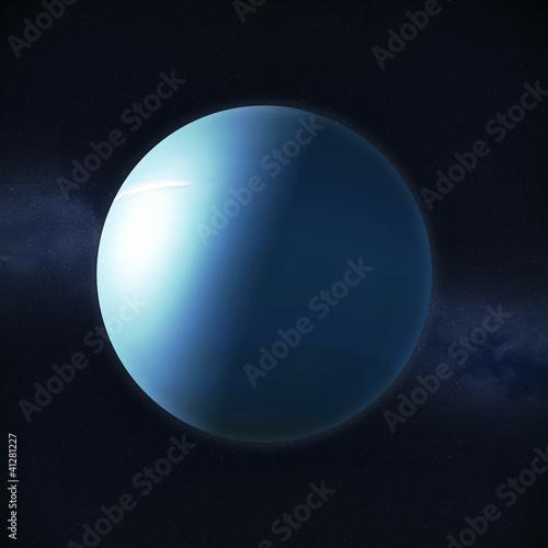 Canvas View of planet Uranus