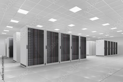 Staande foto Industrial geb. Computer Center