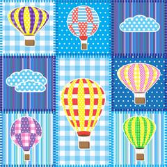 Patchwork s balonima na vrući zrak