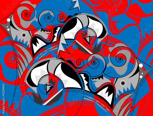 Foto auf AluDibond Graffiti Background