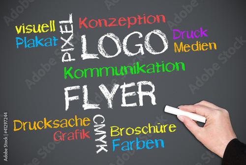 Fotografie, Obraz  Logo und Flyer - Color Concept