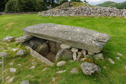 Fotografia, Obraz Burial chamber at Kilmartin Glen, Scotland.