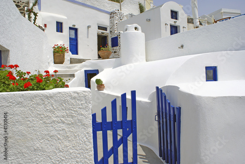 Fototapety, obrazy: Traditional village of Thira at Santorini island in Greece