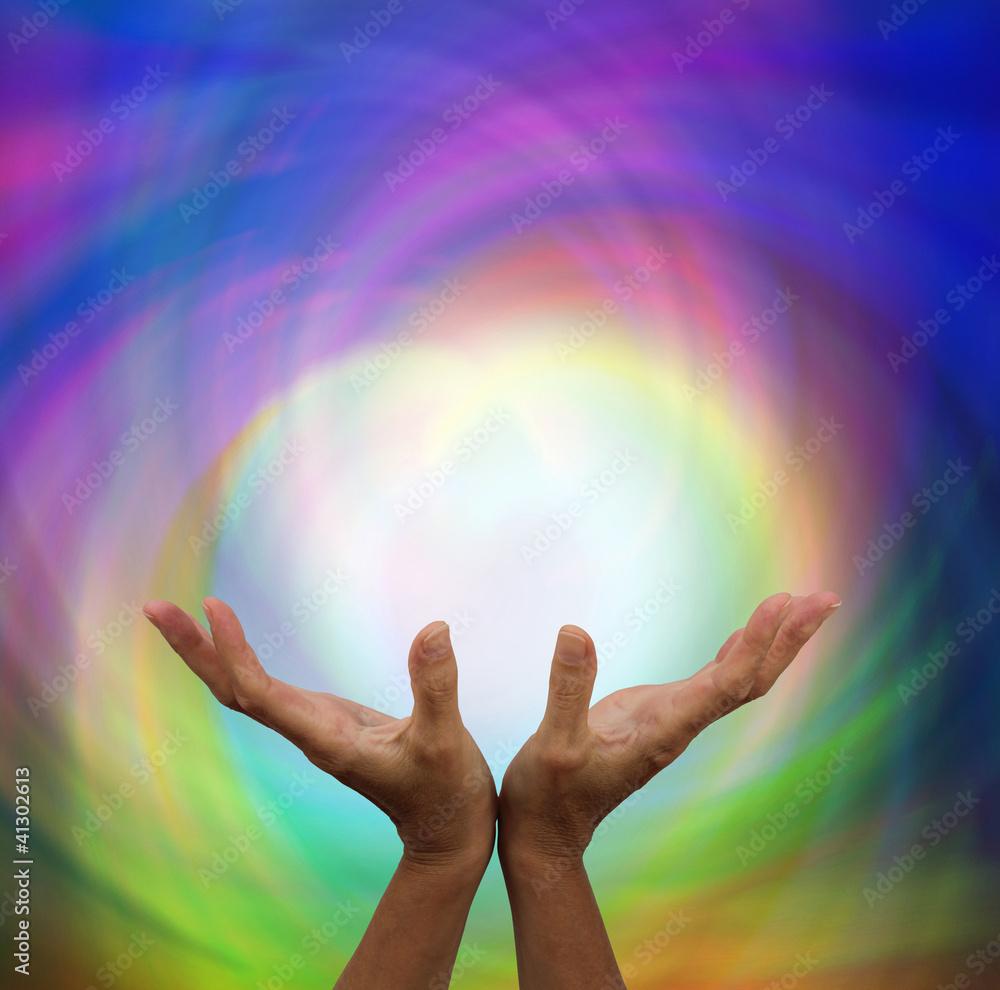 Doppelrollo mit Motiv - Quantum healing energy