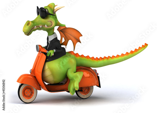Printed kitchen splashbacks Motorcycle Dragon