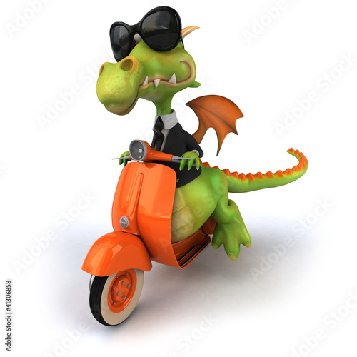 Photo sur Aluminium Motocyclette Dragon