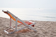 beach chair on tropical white sand
