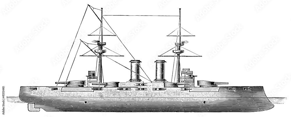 Photo  Japanese battleship Kashima, 1905