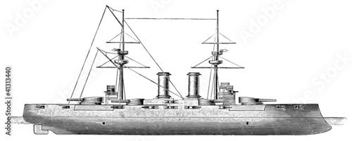 Japanese battleship Kashima, 1905 Canvas Print