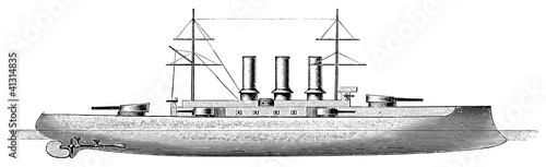Photo  Italian battleship Vittorio Emanuele, 1904