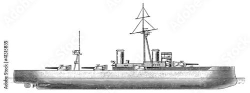 Photo  German battleship SMS Braunschweig, 1902