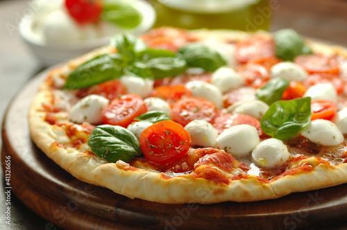 In de dag Madeliefjes Pizza caprese