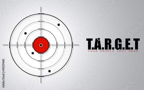 Fotografía  Crosshair on Target Background
